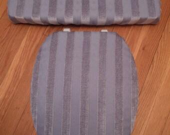 Lavender Purple Chenille Jacquard... Toilet Seat Cover Set