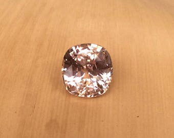 Natural Genuine Sapphire- 8.16 x 8.64mm, 5.49mm deep Square Cushion shape Loose Light Pink Gem, 3.10 carats, Unheated, GIA Certified -LSG775