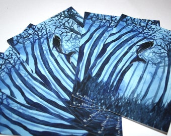 Set of 5 Whale Postcards 5 x 7 Animal Art Oceanic Art Whale Painting Whale Postcards