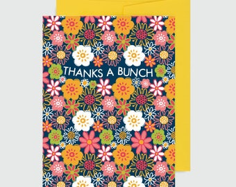 Birthday Card - Floral Thanks a Bunch