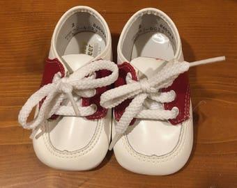 Burgundy Saddle Shoes Size 2