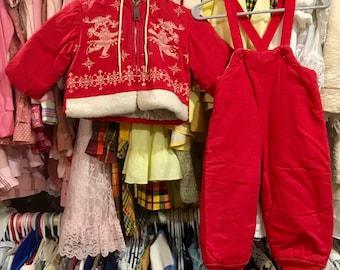60s Snow Suit 12/18 Months