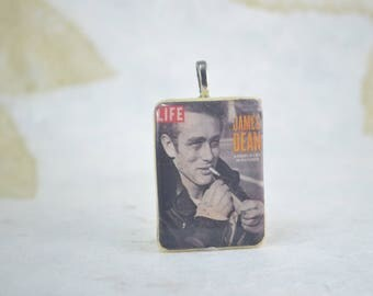 JAMES DEAN Life Magazine Cover Pendant - James Dean Necklace