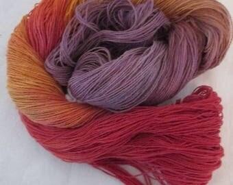 Handpainted Yarn - 4/2 Soft Cotton Yarn  MANGO 420 yds.