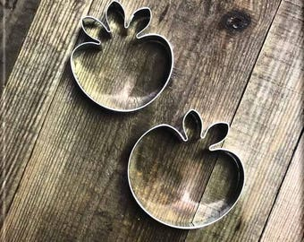 Set of Apple and Strawberry Metal Cookie Cutters #NAWK46