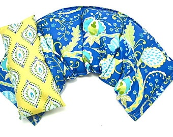 Therapy Gifts: Wide Neck Shoulder Wrap /Eye Pillow Set, Hot Cold Therapy, , Microwavable,Heat Pack,Heating Pad Gift Idea Holiday For Her