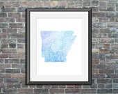 Arkansas watercolor typog...