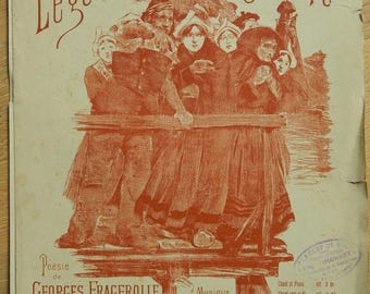 French vintage Sheet Music - Fragerolle et Missa -  Sheets music booklet - old sheets music booklet  -