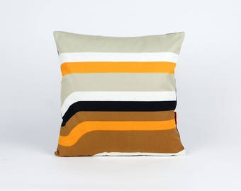 Modern Throw Pillow 16x16, cushion cover, pillow sham, 70s pillow, retro cushion cover, designer pillow, mid century pillow by EllaOsix