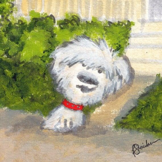 Custom Painting by Artist Bernadette Sheridan - Custom cat portrait, custom dog portrait, custom house portrait
