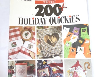 200 Holiday Quickies Cross Stitch Patterns, Cross Stitch Book, Holiday Patterns, Unique Patterns,Softcover Book,Sewing Supplies,Leisure Arts