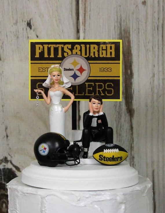 pittsburgh steelers wedding cake topper pittsburgh steelers nfl wedding cake topper football cake 18624