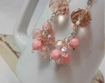 Fancy Pink Dangle Earrings