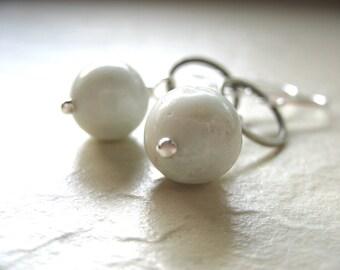 Amazonite Earrings, Amazonite Jewelry, Gemstone Jewelry, Handmade Artisan Jewelry, Dangle Earrings, Stone Earrings, Amazonite, Hoop Earrings