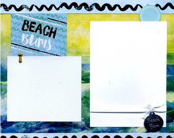 Beach Bums - 12x12 Premade Scrapbook Page