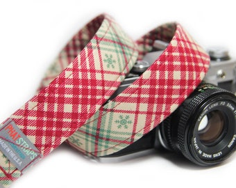 Christmas Plaid Camera Strap - Merry Plaid