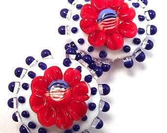 America Flag Floral Lentils