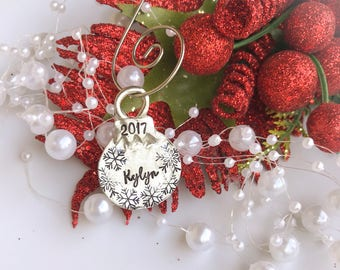 Small Christmas Ball Ornament, Personalized Christmas Ornament, Custom Kids Name Ornament, Personalized Ornament, Custom Christmas
