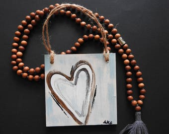With Heart - wood sign painting