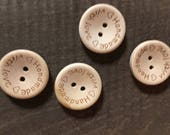 Wood buttons to adorn your handmade fiber arts