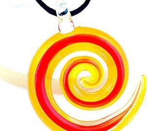 End of Summer CLEARANCE Murano Glass Question Mark Pendant