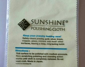 Sunshine Polishing Cloth for Silver, Gold, Brass, Copper, Cleaning Cloth, Polishing Cloth