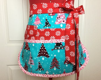 Ready To Ship ~ SALE ~ Christmas Sassy Half Vendor Apron, Womens Utility  Apron With