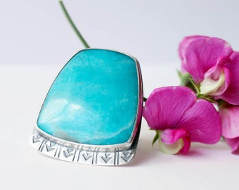 Guiding Path Ring - Amazonite and Silver
