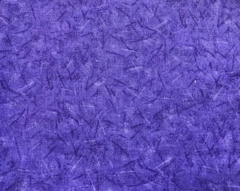 1 Yard of Vintage Purple Abstract Print Cotton Fabric