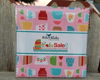 SALE 5 inch charm squares BAKE SALE 2 charm pack from Riley Blake by Lori Holt