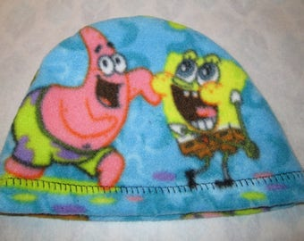 Kids Child Sponge Bob  Anti Pill Fleece Hat, Winter Hat, Cancer, Chemo Hat, Alopecia