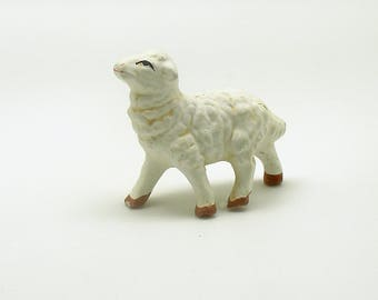 Vintage Lamb Sheep Figurine Nativity Christmas Village