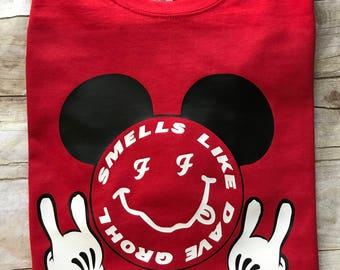 Smells Like Dave Grohl Mickey Mouse Rock Hands
