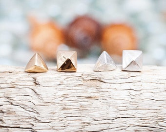 Sand Castle Studs | Sterling Silver | Studs