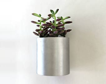 Wall Planter, Modern Recycled Metal Planter, Home Decor, Modern Industrial Planter