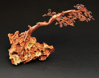 Bonsai Tree Art Sculpture Handcrafted By H-Omer - 2321 - FREE SHIPPING