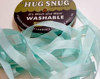 Hug Snug Turquoise Rayon Seam Binding 1/2 inch wide x 100 yards, Turquoise Seam Binding