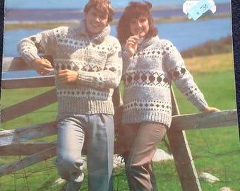 White Buffalo Knitting Indian Sweater Pattern