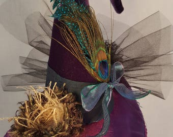 Witch Hat miniature Fascinator Custom made to order Costume Cosplay Millinery