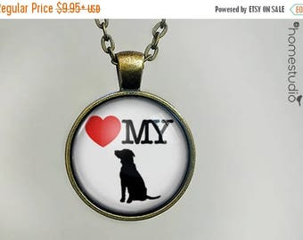 ON SALE - Love My Dog : Glass Dome Necklace, Pendant or Keychain Key Ring. Gift Present metal round art photo jewelry by HomeStudio
