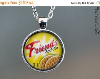 ON SALE - Friends Don't Lie : Stranger Things Necklace, Pendant Stranger Things Keychain Key Ring. Gift Present metal glass round jewelry Ho