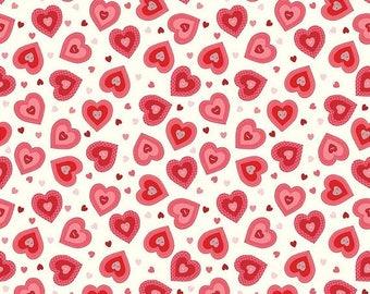 20%OFF Riley Blake Designs Kewpie Love - Heart Cream