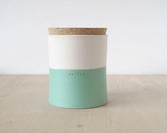 large coffee jar : SECONDS SALE
