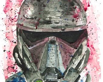 Death Trooper Watercolor