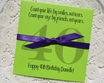 40th Birthday - Adult Birthday Favor - 40th Birthday Favors - 40th Favors - Adult Party Favors - Birthday Lotto Favor - 50th Birthday