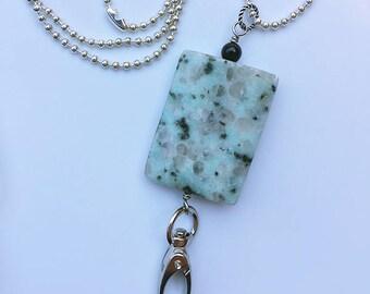 Seasame Jasper Lanyard Necklace