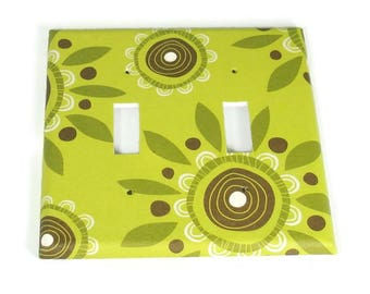 Double Switch Plates Light Switch Cover Wall Decor  Switchplate   in Zoe  (135D)