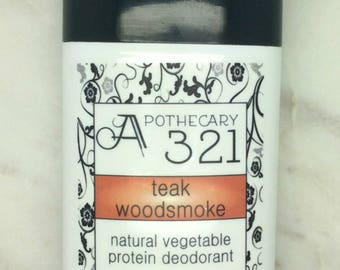 Teak Woodsmoke Scented Vegan Natural Deodorant