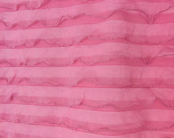 Pink Valance - Ruffle Curtains - Pink Curtain - Kitchen Valance Window Treatments- Sheer Valance- Short Curtain Small Window Valance
