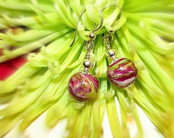 Memorial Beads Flower Petal Jewelry, Memorial Jewelry, Funeral Flower Jewelry, Memorial Gift Idea, Harmony Earrings